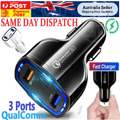 AU11.90 • Buy PD FAST CHARGING USB-C Car Charger For Samsung S21 S20 Ultra S9 S10 Note 5G AU