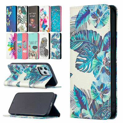 AU13.35 • Buy Leather Folio Wallet Case Magnetic Cover For IPhone 12 11 Pro Max XS XR 8 7+ SE2