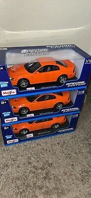 $55 • Buy 1/18 Maisto Diecast Model 2003 Ford Mustang SVT Cobra Special Competition Orange