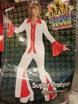 £12 • Buy 70s   DISCO  FEVER ABBA  STYLE SUPER TROUPER OUTFIT SIZE L