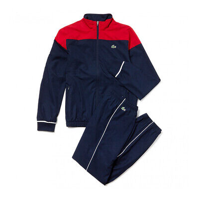 £99.99 • Buy New Lacoste Mens Full Tracksuit Blue / Red  Size 2 XS Extra Small RRP £190 BNWT