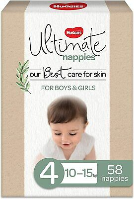 AU32.50 • Buy Ultimate Nappies 4 Count 58 Prevent Nappy Delicate Skin Best Care Unique Cable