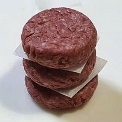 £4.99 • Buy Dolls House Food, Raw Burgers, 12th Scale Miniature, Butchers Shop, Polymer Clay