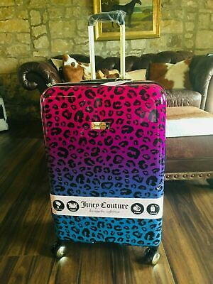 £175 • Buy New Juicy Couture Leopard Animal Print Large Spinner Wheel Suitcase R.r.p. $320