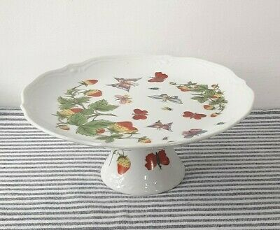 £19.99 • Buy Vintage Cake Stand Strawberries Butterflies Afternoon Tea Wedding Shabby Chic