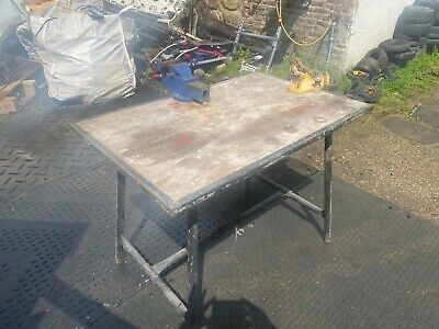 £240 • Buy Rigid Folding Work Bench Table With Pipe Clamp And Vice Good Condition