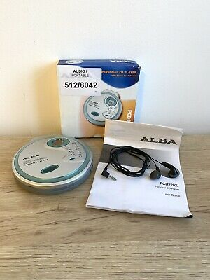 £19.99 • Buy ALBA PCD220XI Personal CD Player With Headphones & Manual - Tested Fully Working