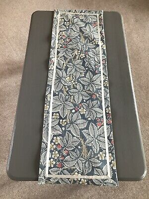 £10.50 • Buy Coffee Table Runner Cotton Fabric With Ribbon Trim  Morris And Co Bramble 101cm