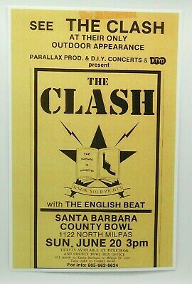 $14.95 • Buy The Clash Punk Rock Concert Poster, Know Your Rights! Live In Santa Barbara 1982