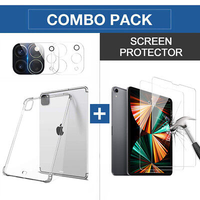 AU33.24 • Buy For Apple IPad Pro 11  12.9  2021 2020 Case Tempered Glass Screen Lens Protector