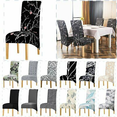 AU31.99 • Buy 1-6PCS XL Dining Chair Seat Covers Stretch Spandex Protector Washable Banquet AU