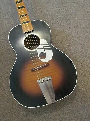 $ CDN519.33 • Buy Kay ''Note'' Acoustic Guitar - USA Made - 60s Harmony Silvertone Airline