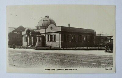 £6.80 • Buy Postcard Carnegie Library Farnworth Bolton Manchester Unposted Real Photo RP
