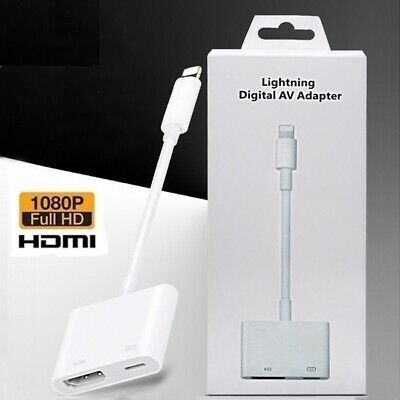 £9.99 • Buy 8 Pin To HDMI Cable/adapter AV To TV 1080P For Iphone 5/6/7/8/X/11 XR 11/12& Pro