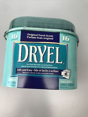 £10.90 • Buy Dryel At Home Dry Cleaning Kit Fabric Protection Bag Stain Remove