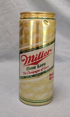 $1.49 • Buy Vintage Miller High Life Beer 16 Oz Aluminum Can Pull Tab Top Opened