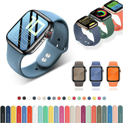 AU4.99 • Buy 38/40/42/44mm Sport IWatch Silicone Band Strap For Apple Watch Series 6 5 4 3 SE