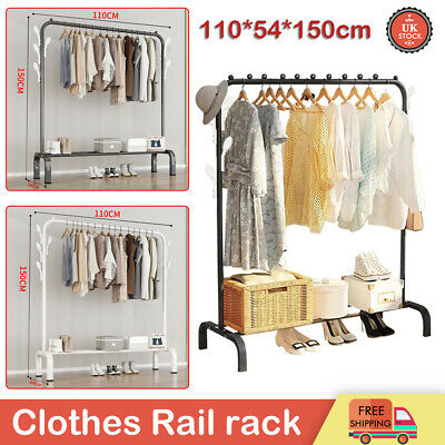 £13.99 • Buy Heavy Duty Clothes Rail Rack Garment Hanging Display Stand Shoes Storage Shelves