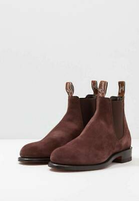 AU340 • Buy Rm Williams Comfort Craftsman Boots Size 7G Cola Suede Brand New