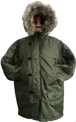 $269 • Buy SPIEWAK Snorkel Parka N-3B Extreme Cold Weather Hooded Military Green 2XL $499