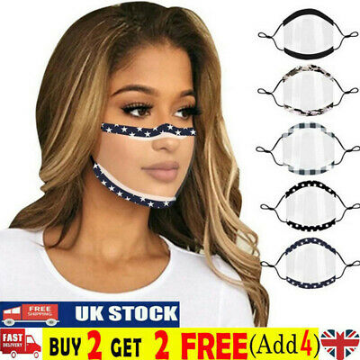 £4.58 • Buy Face Cover Half Visor Shield Protection PPE Plastic Transparent Clear Mask