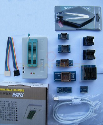 £57.99 • Buy TL866II Plus Programmer For SPI Flash NAND EEPROM MCU PIC+9 Adapter+clip