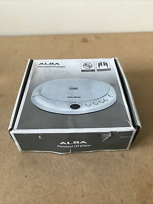 £14.99 • Buy ALBA CCD-431 PERSONAL CD PLAYER WALKMAN IN SILVER   - Full Working Order