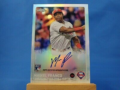 $8.99 • Buy Maikel Franco Topps Chrome 2015 RC Rookie Autograph Auto Refractor /499