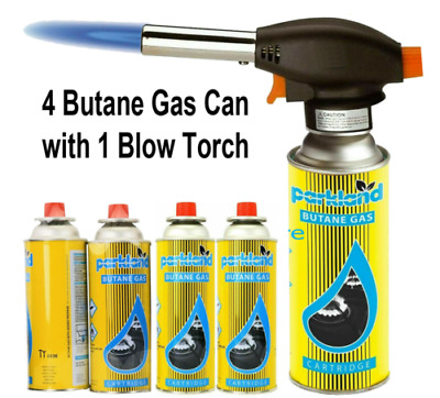 £14.99 • Buy 4 X Pcs Butane Gas Blow Torch Flamethrower Burner Welding Auto Ignition Camping