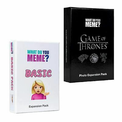 AU44.95 • Buy What Do You Meme? Game Of Thrones Expansion Pack & Basic Expansion Pack (NEW)