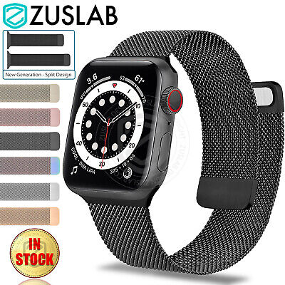 AU11.95 • Buy For Apple Watch IWatch Band Series 6 5 4 3 2 1 SE 2-Piece Style Steel Mesh Strap