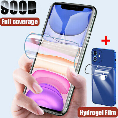 AU2.64 • Buy Front + Back Hydrogel Film For IPhone 13 12 11 Pro Max X XS XR Screen Protector
