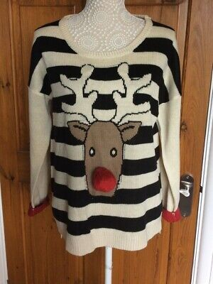 £4 • Buy Ladies Christmas Rudolph Jumper By South Size 14
