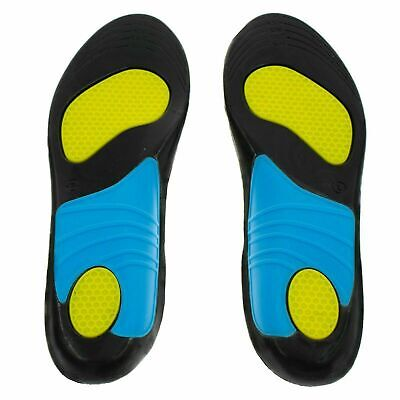 £4.99 • Buy Quality Shock Absorbing Gel Insoles Trainer Boot Shoe Arch Support Heel Cushion