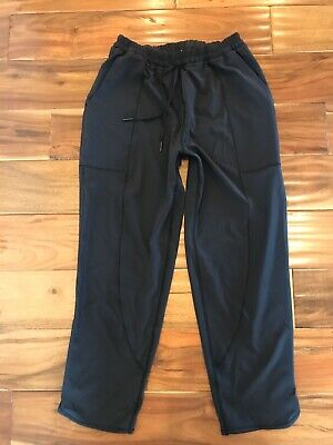 $ CDN49.10 • Buy Lululemon 4 On The Fly Jogger Style Pant Stretch Black, Front Pockets Pull On S