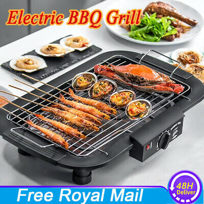 £22.80 • Buy UK Electric Table Top Grill BBQ Barbecue Garden Camping Cooking Indoor/Outdoor