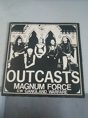 £5 • Buy The Outcasts, Magnum Force, Ultra Rare 7  Punk Single