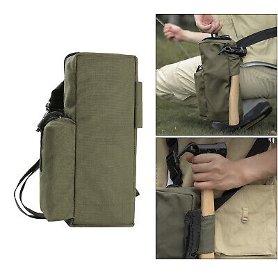AU14.56 • Buy Tent Pegs Bag Organizer Case Wind Rope Hammer Pouch Hiking Accessories