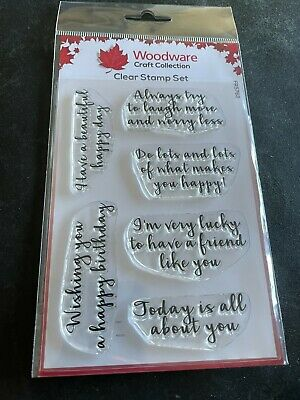 £4.95 • Buy Woodware Happy Thoughts Clear Stamp Collection.