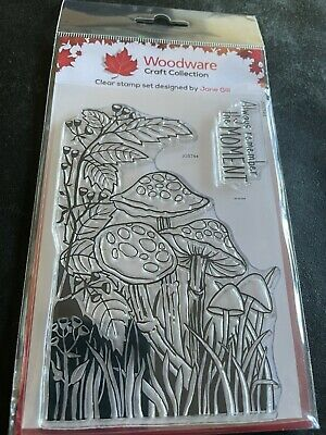 £4.95 • Buy Woodware Lino Cut - Toadstools Clear Stamp Collection By Jane Gill.