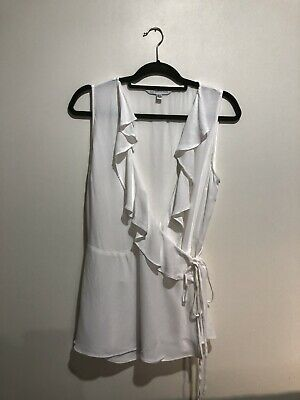 AU35 • Buy Forever New - White Wrap Blouse - Size 14 - Soft & Stretch Fabric
