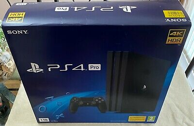AU411.06 • Buy Sony Ps4 Pro Playstation 4 1tb Black +2 Games Works Perfect Exc Condition Boxed
