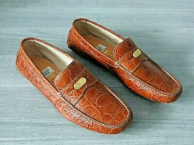 AU140.62 • Buy NEW Men's GUCCI Crocodile Shoes Loafers-Size 8M-BRAND NEW!
