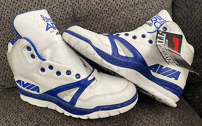£179.01 • Buy Vintage AVIA 879 Spider Arc High Top Blue White Basketball Shoes 10.5 Deadstock