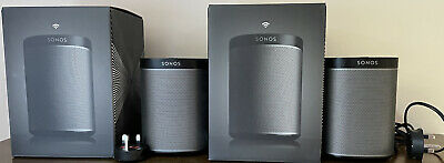 AU227.96 • Buy Sonos Play 1 Black (2 Speaker Pair) Excellent Condition With Boxes
