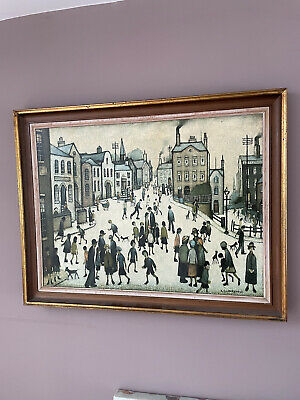 £69 • Buy Village Square By Lowry Print On Canvas Framed