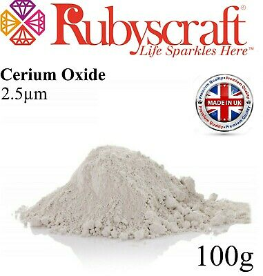 £8.99 • Buy CERIUM OXIDE ~FASTER POLISHING~GLASS POLISHING~SCRATCH REMOVER 2.5μ 100g WHITE