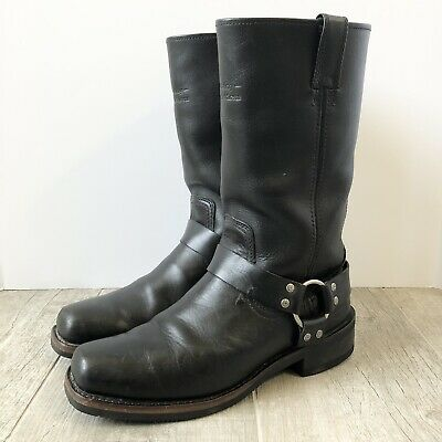 $ CDN113.28 • Buy Harley Davidson Men's 11  O-Ring Harness Black Leather Riding Boots Size 9.5
