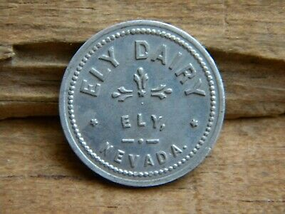 $29.99 • Buy ELY, NEVADA Old Trade Token ELY DAIRY Gf One Quart Milk White Pine County NV