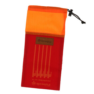 AU8.85 • Buy Tent Peg Nails Stakes Storage Bag Outdoor Camping Tent Peg Nail Organizer Pouch